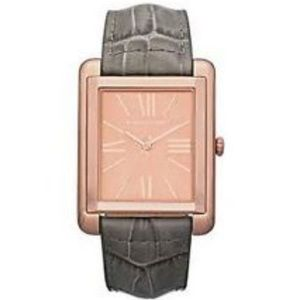 MICHAEL KORS GREY CROCODILE rose gold watch unisex